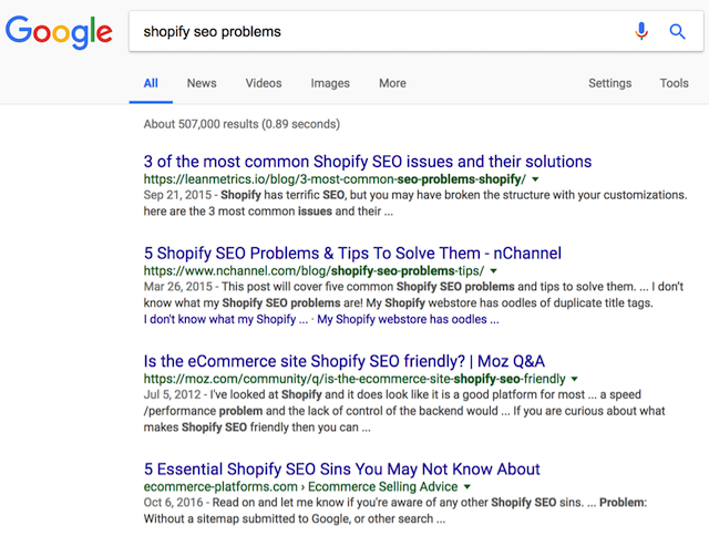 leanmetrics serp on google sg