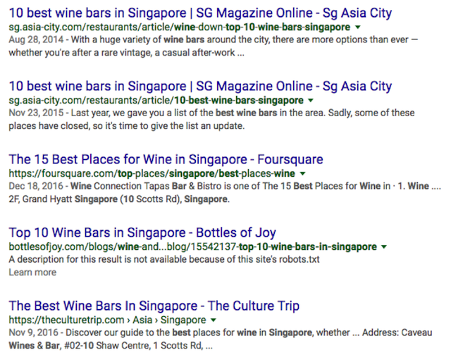 bottles of joy serp on google sg
